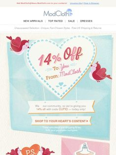 Today only, an irresistible treat for ModCloth members! - Modcloth
