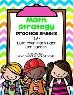 Math Strategy Practice Sheets   Included in this product: Practice Sheets to Practice Math Strategies, including: Count On Flip Flop / Commutative Property Doubles Doubles +1 Doubles -1 Doubles +2 Doubles -2 Fact Family Add/Subtract Zero Make a Ten Plus Ten Minus Ten Count Back Use a Hundreds Grid & Use a Hundreds Chart Use a Number Line