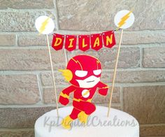 The Flash Birthday Party Package - Flash Birthday Party Decor Justice League Logo - Flash Birthday Party Printables - Superhero Party 100656 Flash Birthday Cake, Flash Cake, Novelty Birthday Cakes, Birthday Cake Toppers, 5th Birthday, Birthday Ideas, Birthday Party Decorations, Birthday Parties, Themed Parties