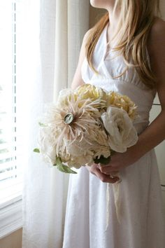 Vintage Chic with Rustic Charm bridal bouquet by AlternativeBlooms, $189.00