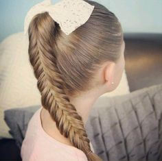Fishtail Braid Hairstyle for Little Girls