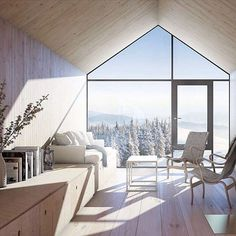 Dreamy ski chalet. #regram @michelleogundehin via @thespacesmag #clutterfreeliving #dream
