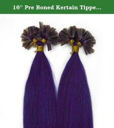 16'' Pre Boned Kertain Tipped Straight Nail U Shape Real Human Hair Extensions Straight Color Lila /Light Purple Beauty Hair Style. We guarantee 100% human hair. High quality, very competitive price. Colours may look little differently on each monitors. Nail Tip / U-Tip Nail tip hair extensions or u tip hair extensions are pre bonded 100% human hair extensions which are dipped in high quality keratin hair extension glue at the tips. This is the safest hair bonding glue and can be removed...