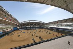 What an epic arena for the final Grand Prix - Al SHAQAB #LGCTDoha #Showjumping