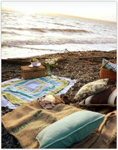 Picnics on the beach, especially in the evening and especially on Lake Michigan :)