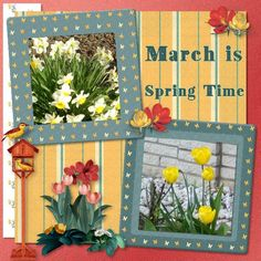 using March Mini Pixel by KatLen Creation spring a'bloom   http://www.ivyscraps.com/store2/index.php?main_page=product_info&cPath=169_172&products_id=2737   font Decorative   pict mine