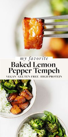 This lemon pepper baked tempeh is so versatile and flavorful! It's a perfect way to add plant protein to salads, bowls, wraps, and more. Easy to prepare, healthy, and great for meal prep. Vegan Gluten Free, Vegan Vegetarian, Vegetarian Recipes, Cooking Recipes, Healthy Recipes, Herbed Rice, Lemon Pepper, Plant Protein