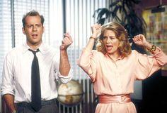 Maddie Hayes and David Addison (Cybill Shepherd and Bruce Willis), Moonlighting