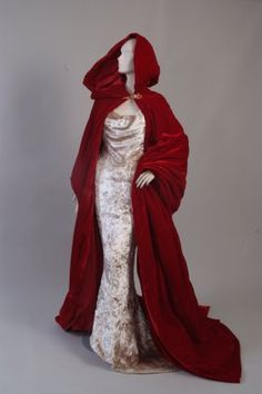 This dress was specially made by Vivienne Westwood in 1997, to be worn in the snow. Wedding was in Zermatt, Switzerland, the dress was worn with a ruby + diamond tiara once belonging to the Romanov family. Dress is made from a longhaired velvet of silk rayon.The skirt is fitted with a 19th century bustle.