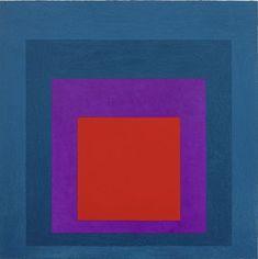 "Josef Albers ""Homage to the Square, Temperate"", 1957 Art, Bauhaus Textiles, Artist Art, Art Lessons, Painting, Josef Albers, Sketchbook Journaling, Fine Art Painting, Colorful Art"
