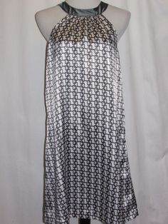 VOILE by COLORS AND CONCEPTS Gray Silky Halter Dress NWT Sz MED Fully Lined #Voile #Sheath #Clubwear