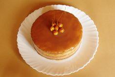 oříškový dort s karamelem