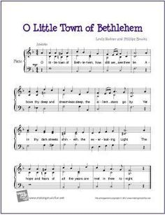 O Little Town of Bethlehem | Free Sheet Music for Piano