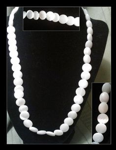 Wonderful vintage Mother of Pearl Necklace by PurpleHazeDayz, $32.00