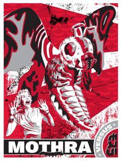 Mothra Classic Sci Fi, Classic Monsters, Famous Movies, Godzilla, Faeries, Devil, Movie Tv, Spiderman, Horror