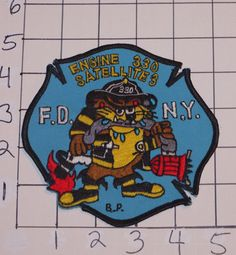 Older FDNY Engine 330 Satellite 3 Fire Patch Original not a Reproduction NYC