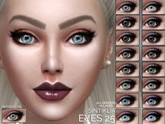 Eyes 25 by Sintiklia Sims at TSR via Sims 4 Updates
