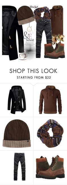 """""""Casual chic 23."""" by merimaa997 ❤ liked on Polyvore featuring Haggar, Muk Luks, Timberland, ASOS, men's fashion and menswear"""