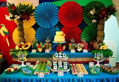 """Rio"" themed party - some really cute details on the website."