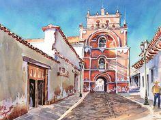 Arco y Templo del Carmen, en San Cristóbal de las Casas