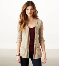 I am slightly obsessed with boyfriend cardigans. I have them in all colors, fabrics and textured. I wear one pretty much everyday!