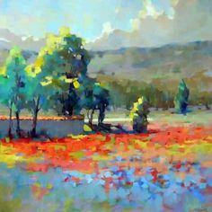 Poppy Field by Trisha Adams Oil ~ 36 x 36