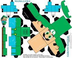 Mama Luigi Cubeecraft by Saikyo-Master