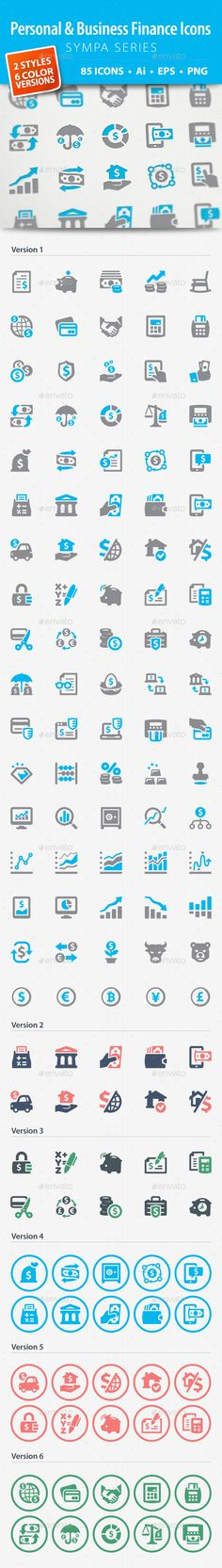 Personal & Business Finance Icons - Sympa Series #design Download: http://graphicriver.net/item/personal-business-finance-icons-sympa-series/13569787?ref=ksioks