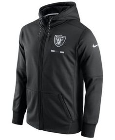 Nike Men's Oakland Raiders Therma Full-Zip Hoodie - Black L