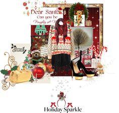 """Holiday Sparkle"" by t-i-v-a-s-u-r-a-d-e-j ❤ liked on Polyvore"