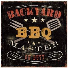 Backyard BBQ by Eazl Outdoor Canvas, Size: 12 x 12, Multicolor