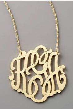 Really want a monogram necklace!!