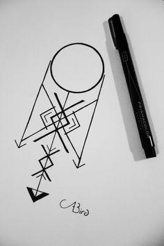 PRICE DROP Line Arrow Tattoo by abirdsDesigns on Etsy