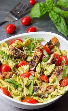Low FODMAP and Gluten Free Recipe -- Chicken pesto salad  ---   (update)