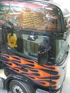 from dusk till dawn Customised Trucks, Dusk Till Dawn, Airbrush, Rigs, Murals, Van, Vehicles, Wall Murals, Vans