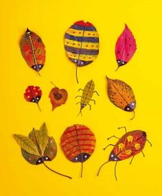 leaves and bugs: art