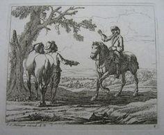 G.P Rugendas: Zwei sich grüßende Reiter,1699
