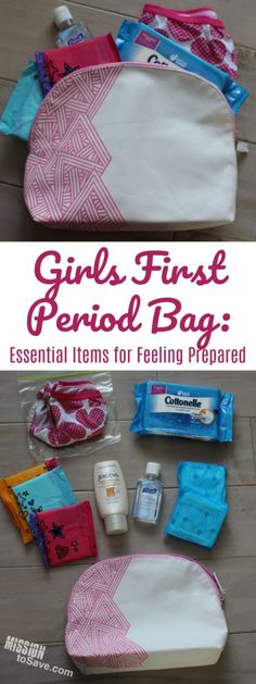 Help your tween feel prepared by creating this girls first period bag. A few simple, yet essential personal care items along with open communication between mother and daughter can help the changes a tween girl encounters feel a little less overwhelming. My Little Girl, Up Girl, My Baby Girl, Parenting Advice, Kids And Parenting, Foster Parenting, Parenting Classes, Parenting Websites, Natural Parenting