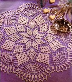 Diamond fantasy doily with diagram