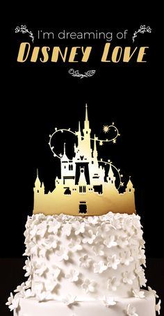 Disney Castle Cake Topper, Cinderella's Castle Cake Topper, Disneyland and Disneyworld Wedding