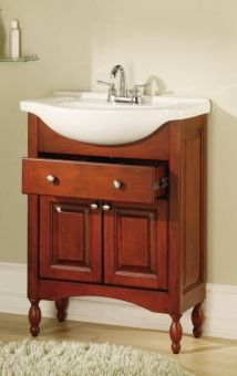 Exceptional Small Narrow Vanity Favorite!! 26 Inch Single Sink Narrow Depth Furniture Bathroom  Vanity With