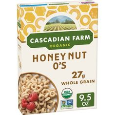 Kids and grown-ups alike will flip for the taste of these whole-grain oats, flavored with the sweet taste of real honey and almonds. Perfect for breakfast or snacking! Organic Cereal, Organic Snacks, Natural Grocers, Whole Grain Cereals, Oats And Honey, Malted Barley, On The Go Snacks, Dog Food Recipes, Sweets