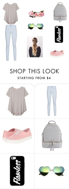 """""""Spring Break Outfit"""" by jazmine-1222 on Polyvore featuring Olive + Oak, 7 For All Mankind, Vans and MICHAEL Michael Kors"""