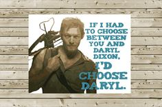 Daryl Dixon Walking Dead I Love You Greeting Card by aLouCreations, $3.85