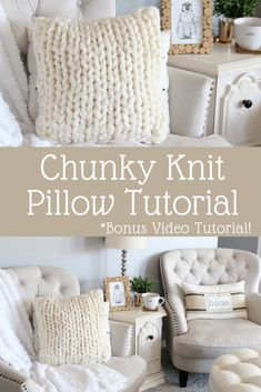 How To Make A Chunky Knit Pillow - Raising Nobles - Chunky Knit Pillow Tutorial