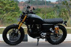 Yamaha Byson, Honda Scrambler, Honda Grom, Scrambler Custom, Custom Motorcycles, Custom Bikes, Cafe Racer Seat, Cafe Racer Honda, Cafe Racer Bikes