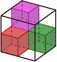 fractal formado por un cubo de lado 1, tiene dimensión de semejanza 3 Investing, Math, Toys, Home Decor, Fractals, Cubes, Activity Toys, Decoration Home, Room Decor