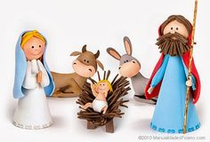 Love the cow& donkey Christmas Nativity Scene, A Christmas Story, Christmas Crafts, Christmas Decorations, Christmas Ornaments, Merry Christmas, Polymer Clay Christmas, Navidad Diy, 242