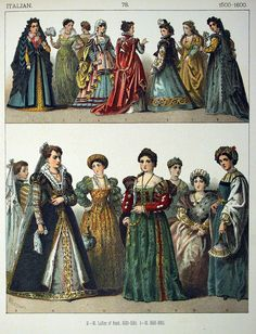 Image result for italy fashion 1600