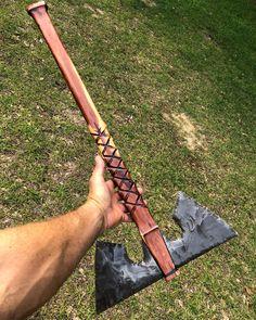 Likes, 179 Comments - Knife Axe Fantasy Blade, Fantasy Weapons, Dragon Glass, Viking Axe, Maila, Vikings, Knives And Swords, Knife Making, Blacksmithing